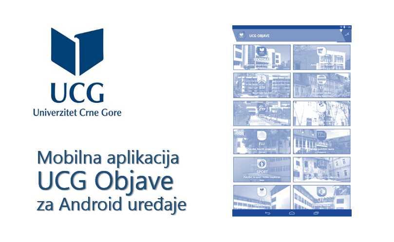 "Mobilna aplikacija ""UCG Objave"""