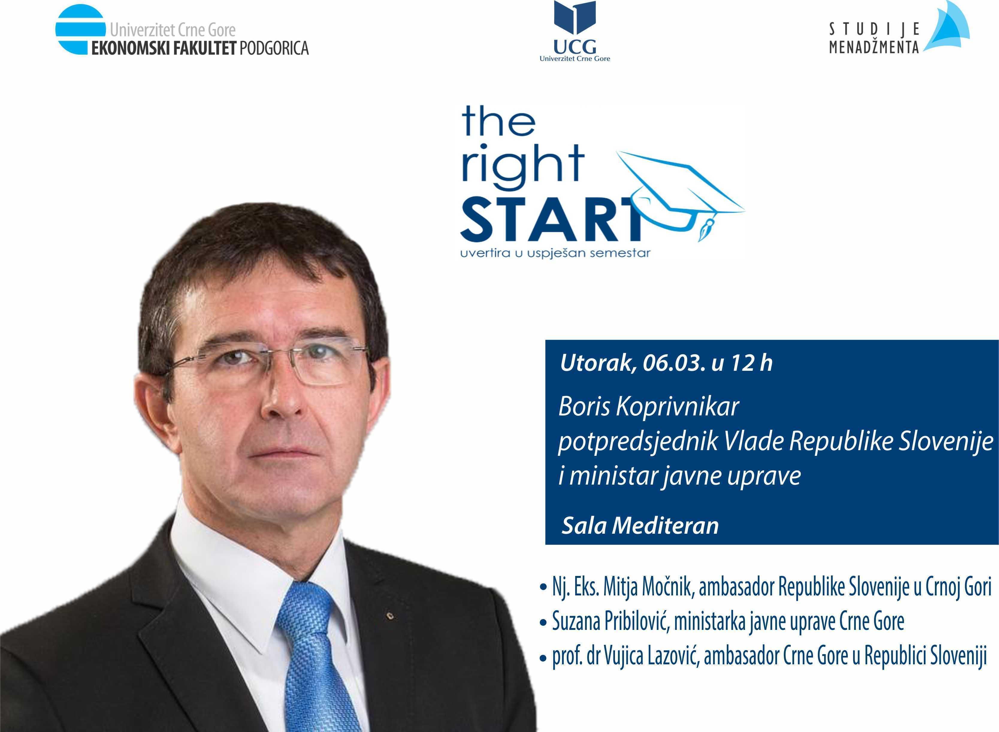 Gostujuće predavanje potpredsjednika Vlade Republike Slovenije