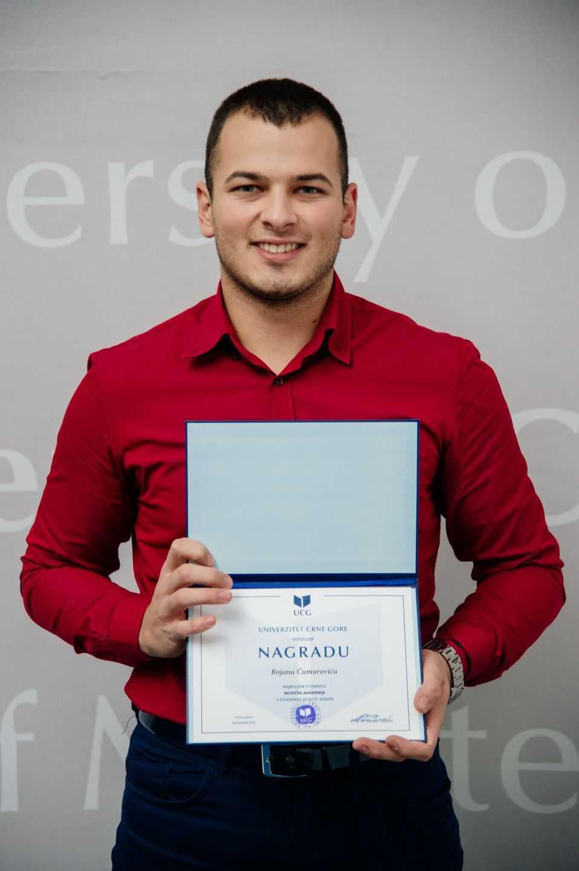 Bojan Ćumurović, najbolji student Muzičke akademije