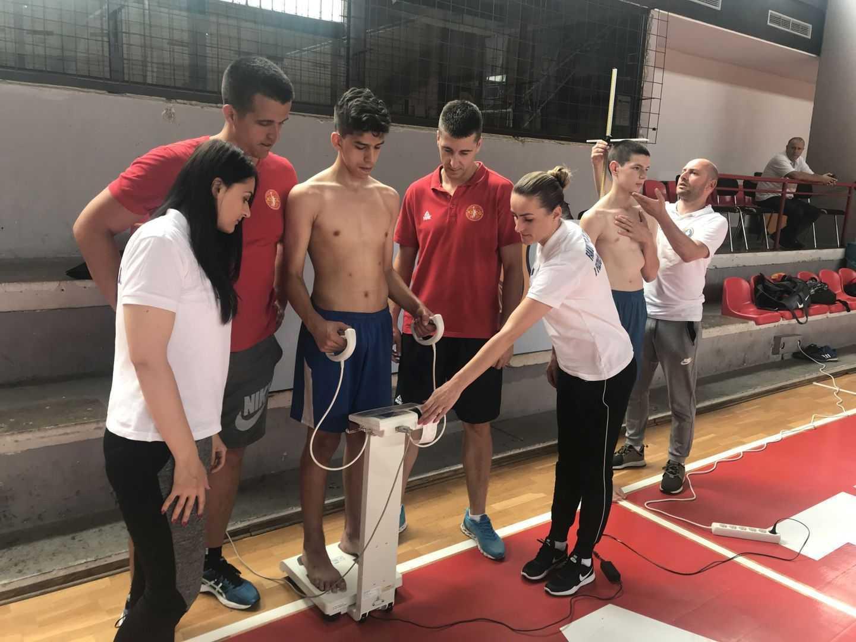 Antropometrijsko mjerenje pionirske košarkaške reprezentacije Crne Gore