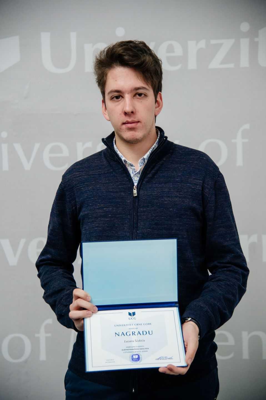 Lazar Šćekić, najbolji student Elektrotehničkog fakulteta