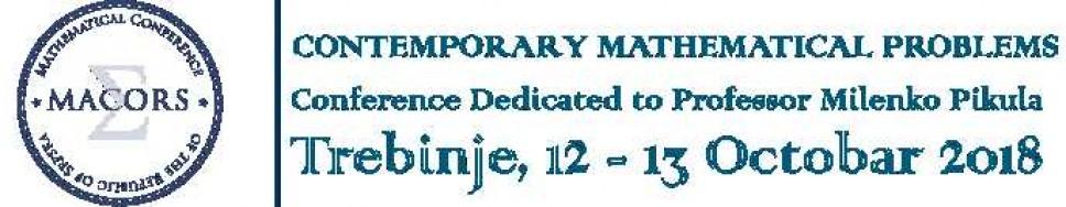 Matematička konferencija Republike Srpske: 12-13 Oktobar 2018 Trebinje