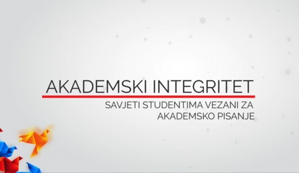 VIDEO 8 - Savjeti studentima vezani za akademsko pisanje