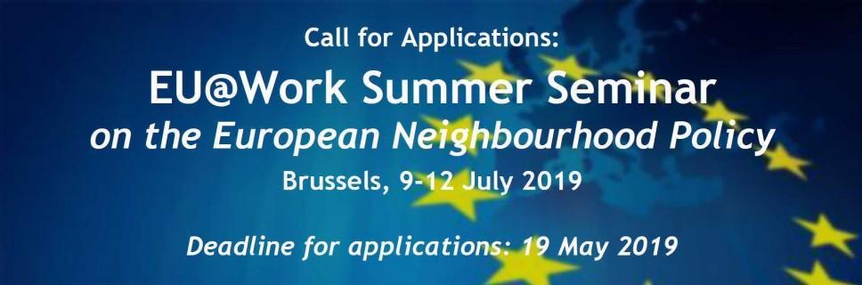 Prijave za Ljetnji seminar o evropskoj politici susjedstva