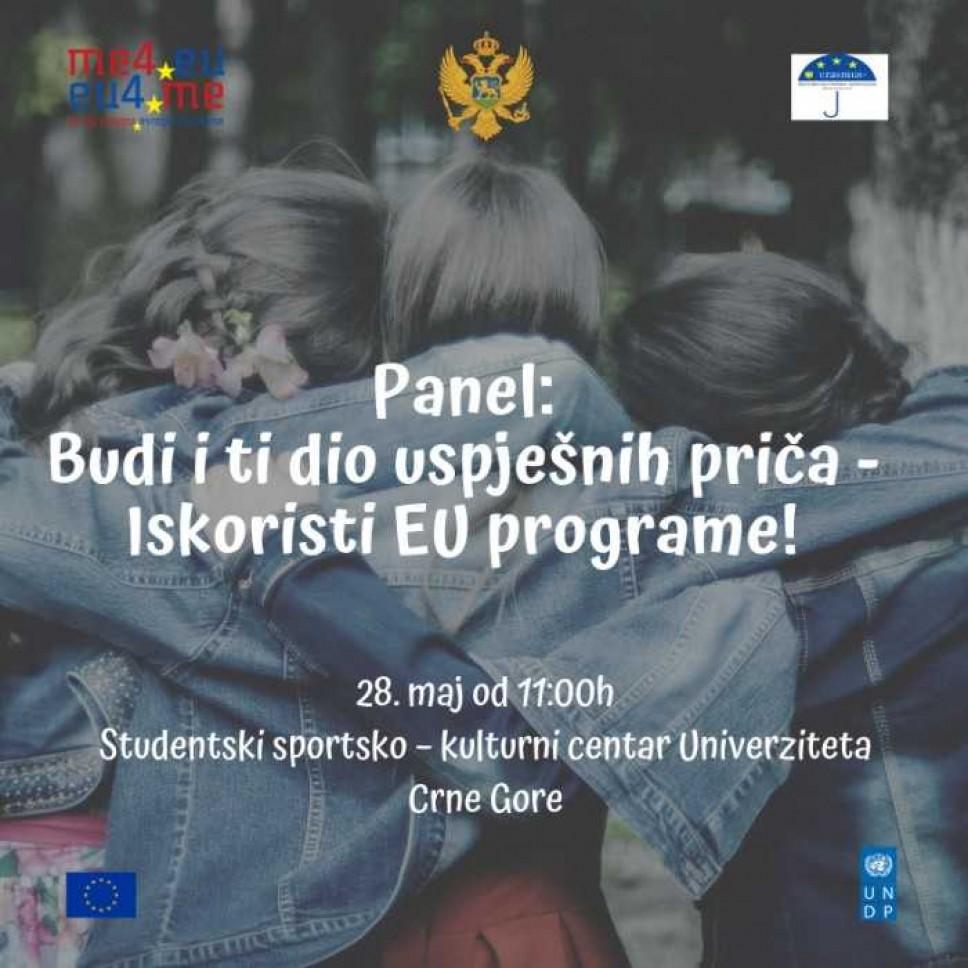 """Panel """"Budi i ti dio uspješnih priča - Iskoristi EU programe!"""""""