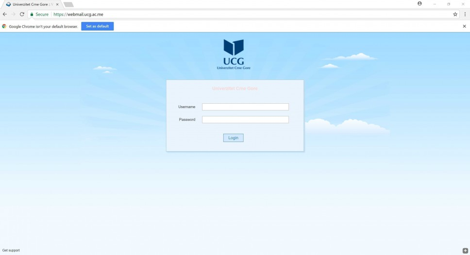 Novi grafički interfejs za webmail