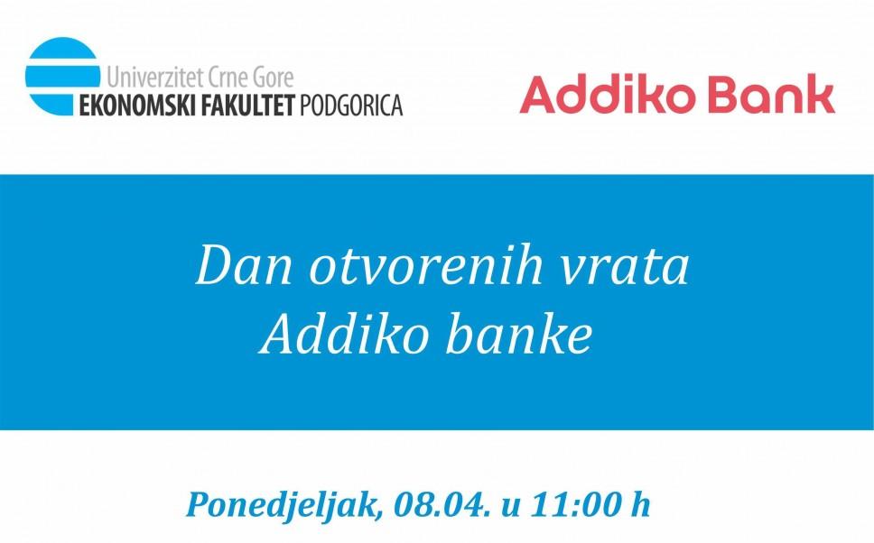 Dan otvorenih vrata Addiko banke –Upoznajte budućeg poslodavca!