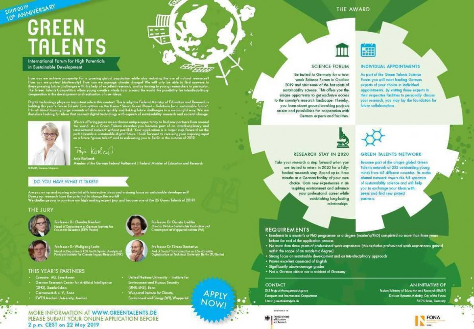 Green Talents Competition 2019.