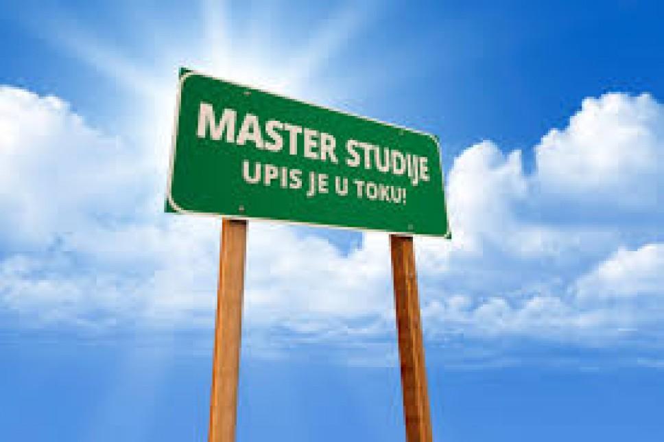 Procedura za upis na Magistarske studije, upisni rok SEP, 2018. godine