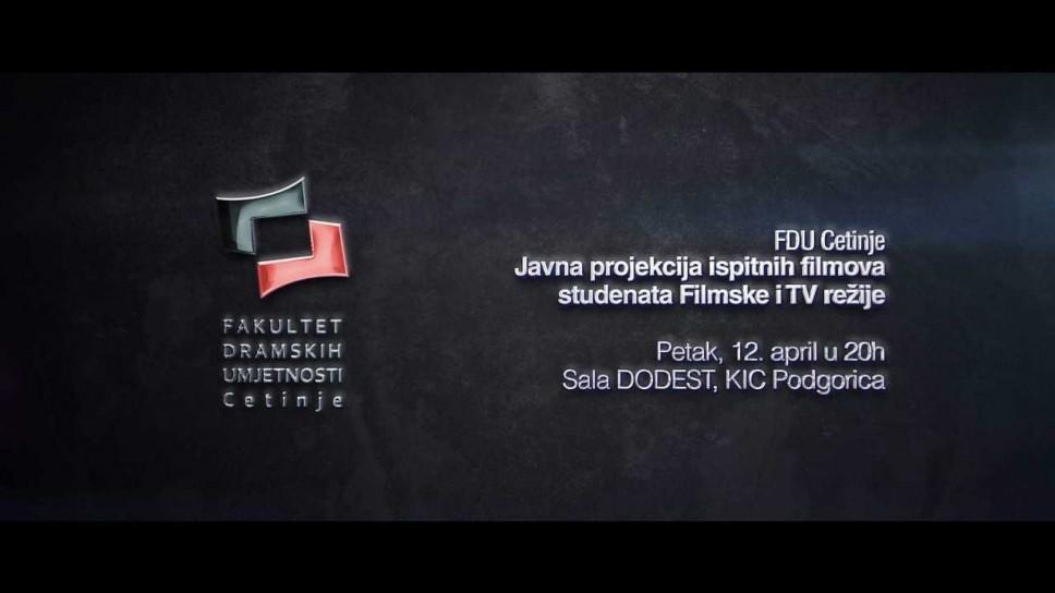 Javna projekcija ispitnih filmova studenata Filmske i TV režije