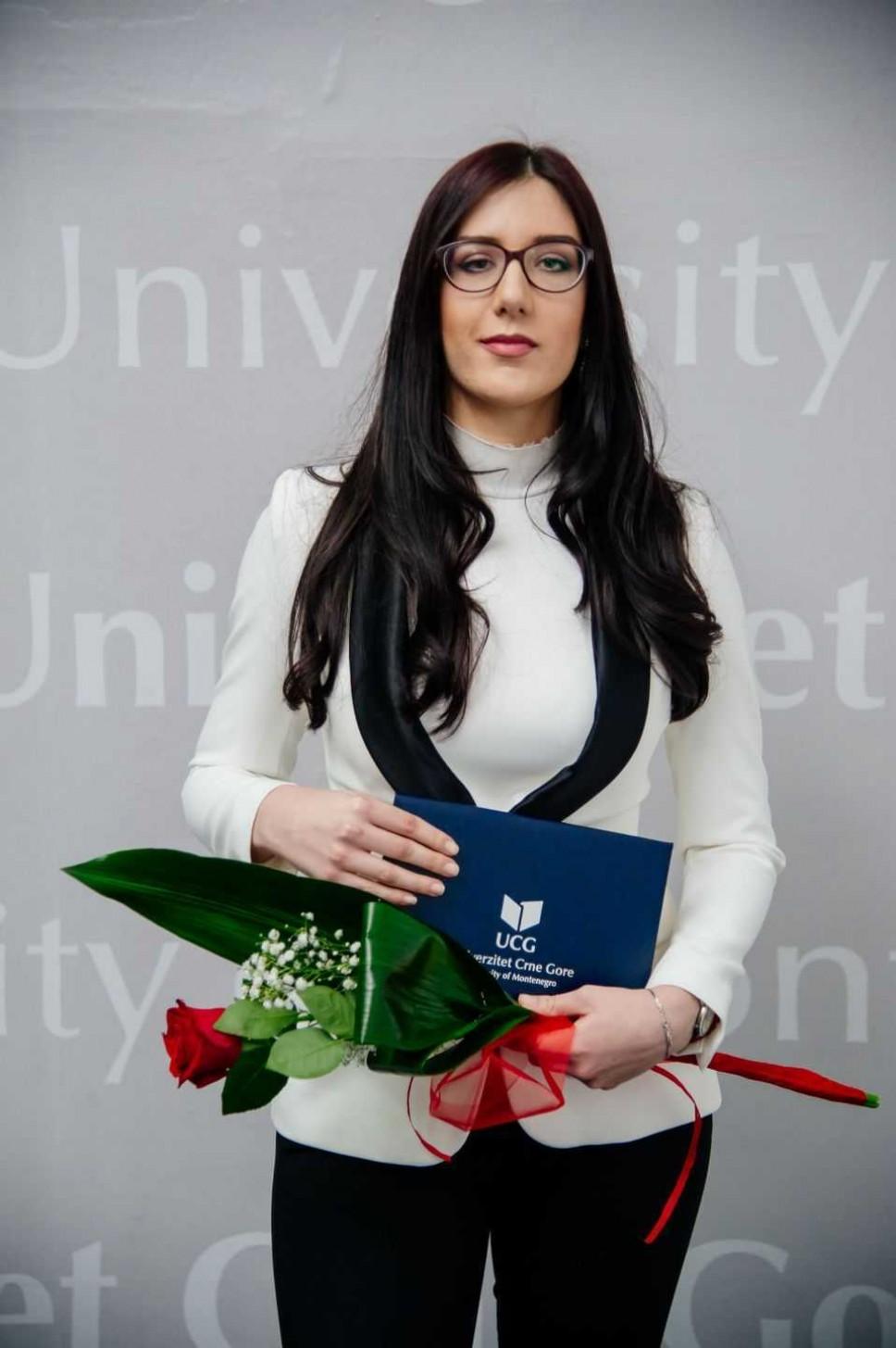 Ana Bogavac, najbolji student Pravnog fakulteta