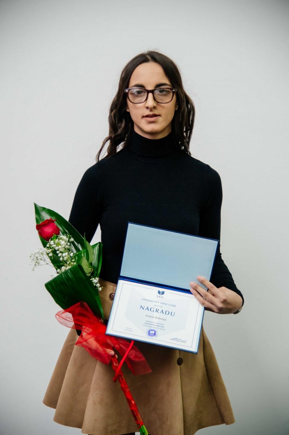 Armina Rebronja, najbolji student Filozofskog fakulteta