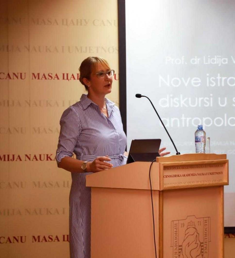 Naučna tribina prof. dr Lidije Vujačić u Crnogorskoj akademiji nauka i umjetnosti