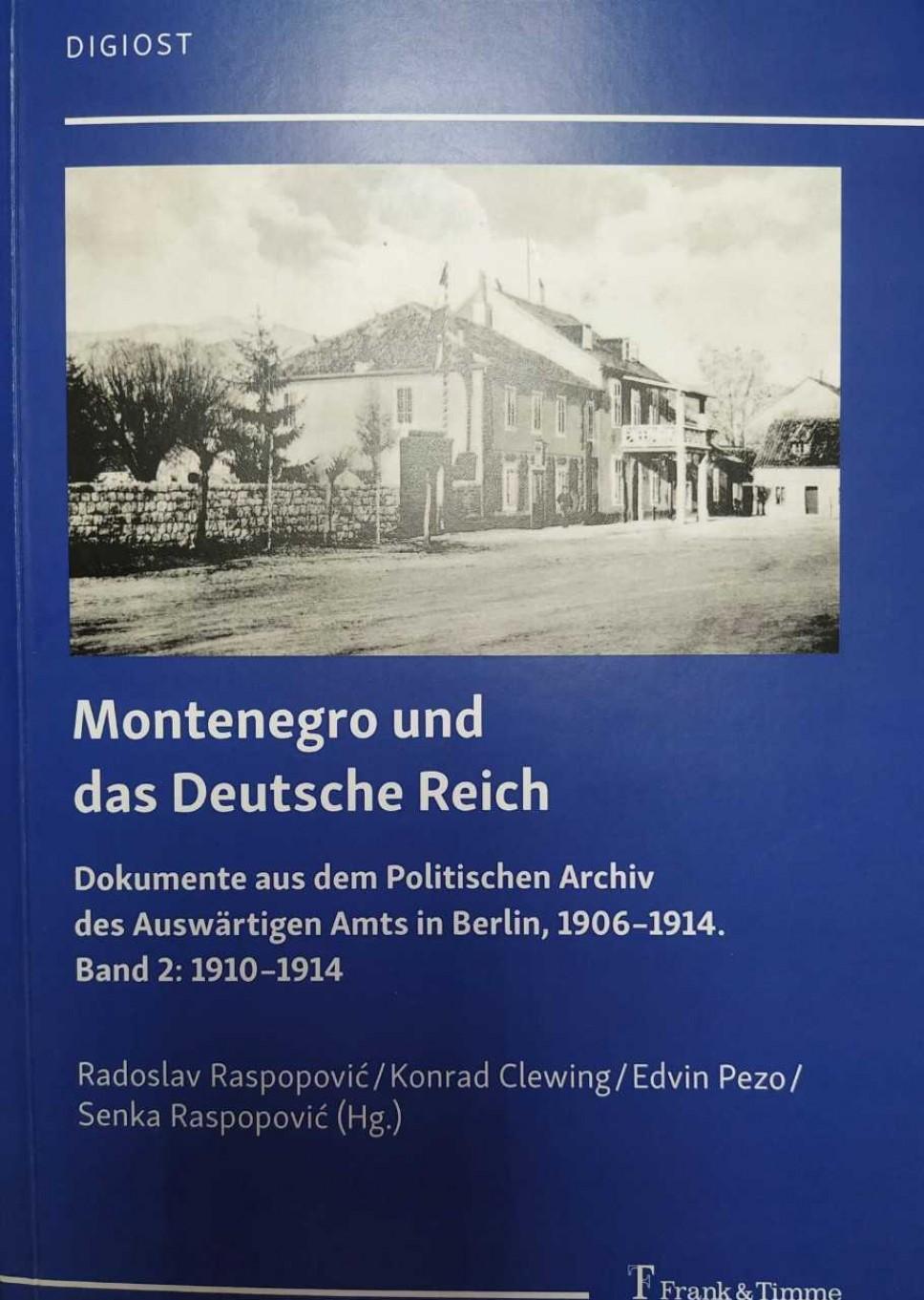 Drugi tom dokumenata u okviru projekta Crna Gora i Njemački Rajh u izdanju Istorijskog instituta UCG