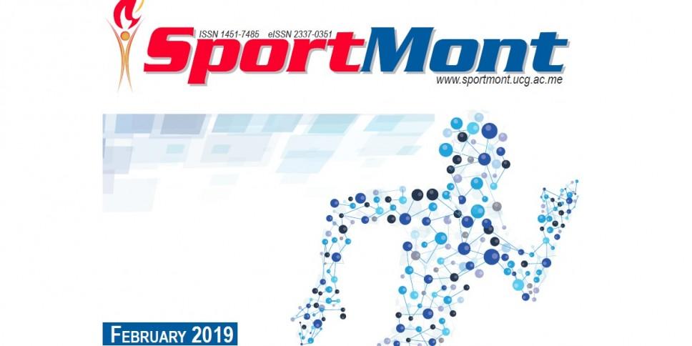 Februarsko izdanje časopisa Sport Mont  indeksirano u 44 svjetske naučne baze