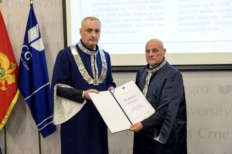 Predstavljamo: Prof. dr Duško Bjelica - dobitnik Plakete Univerziteta Crne Gore za doprinose u naučnoistraživačkom radu