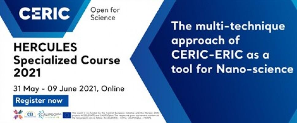 Specijalizovani kurs HERCULES 2021: Multitehnički pristup kao instrument za nanonauke
