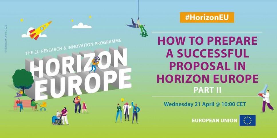 Vebinar II: Kako  pripremiti uspješan predlog projekta u okviru programa Horizont Evropa