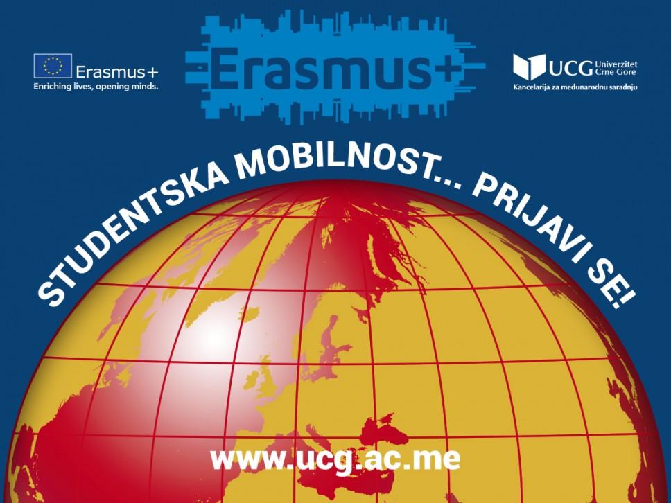 Aktuelni Erasmus+ konkursi za razmjenu studenata i osoblja u akademskoj 2021/2022.