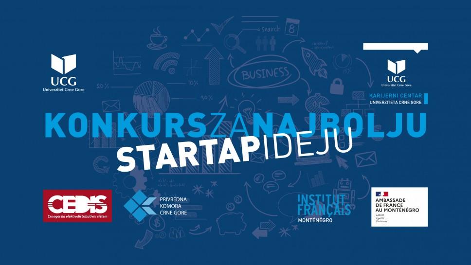 Nagradni konkurs  za najbolju startap ideju studenata Univerziteta Crne Gore još danas