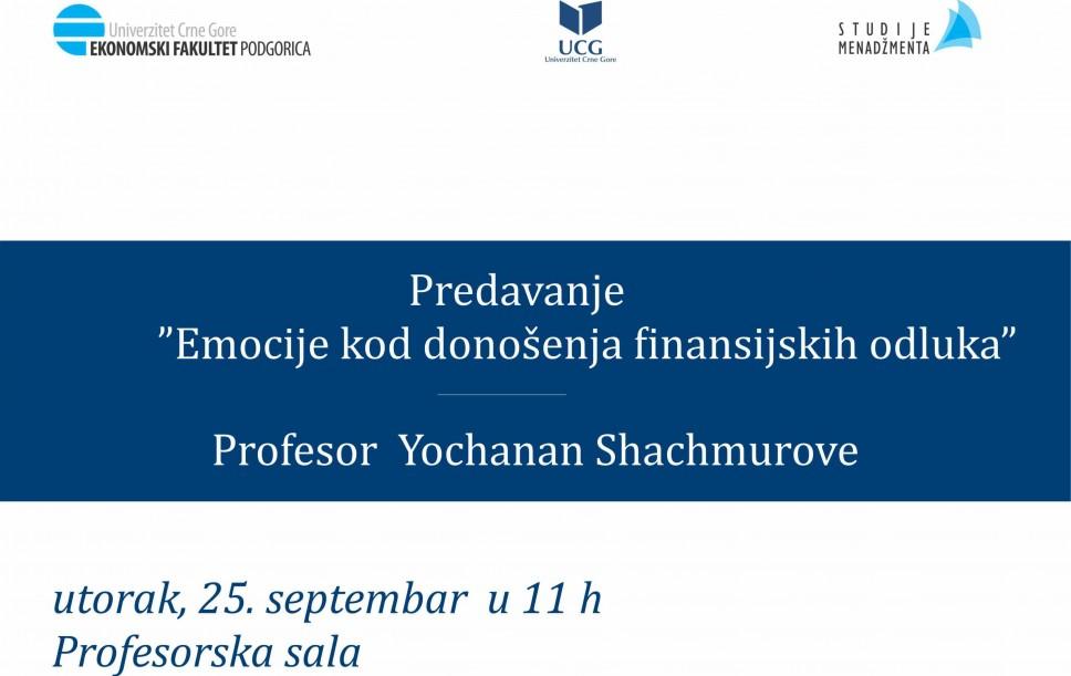 Predavanje Yochanana Shachmurove na Ekonomskom fakultetu