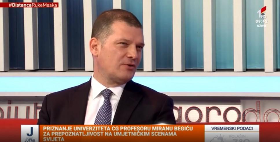 RTCG: Sa profesorom Miranom Begićem o Priznanju Univerziteta Crne Gore