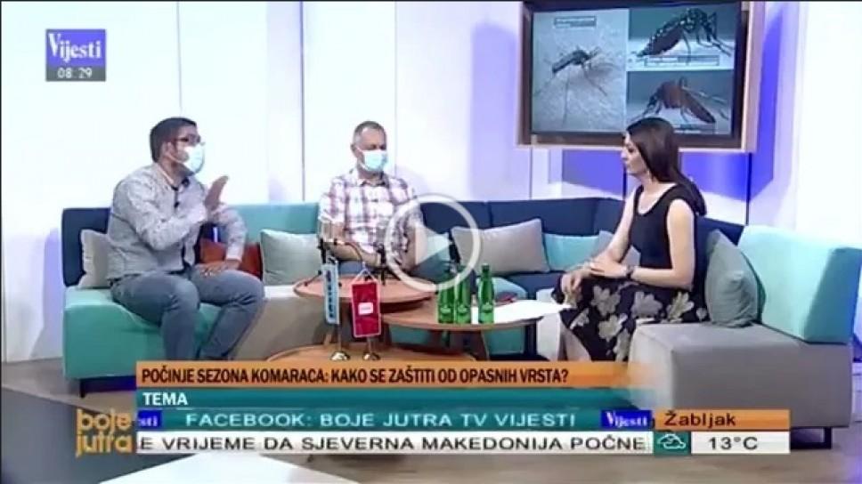 Doc. dr Igor Pajović za  TV Vijesti o početku sezone komaraca