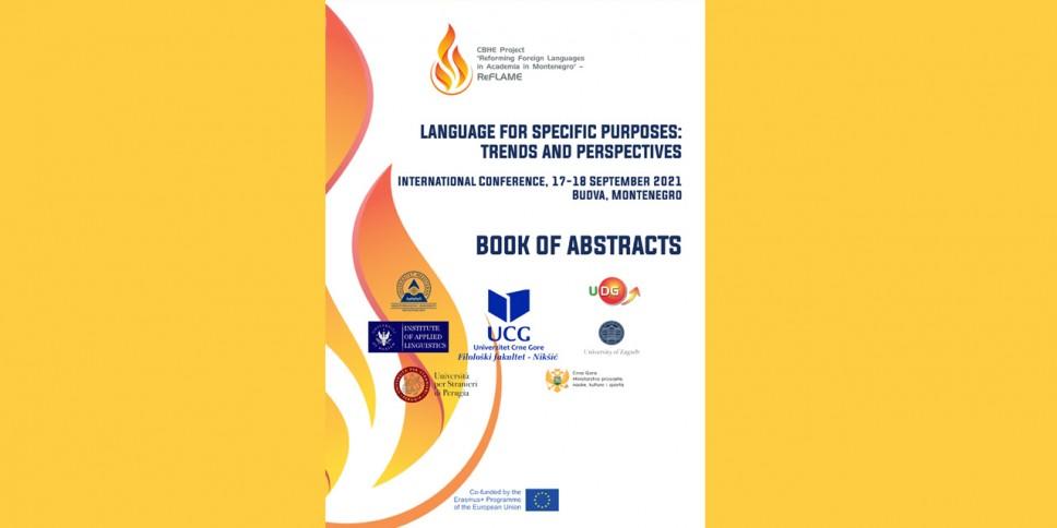 Najava Međunarodne konferencije na temu savremenih tokova u proučavanju i nastavi stranih jezika struke