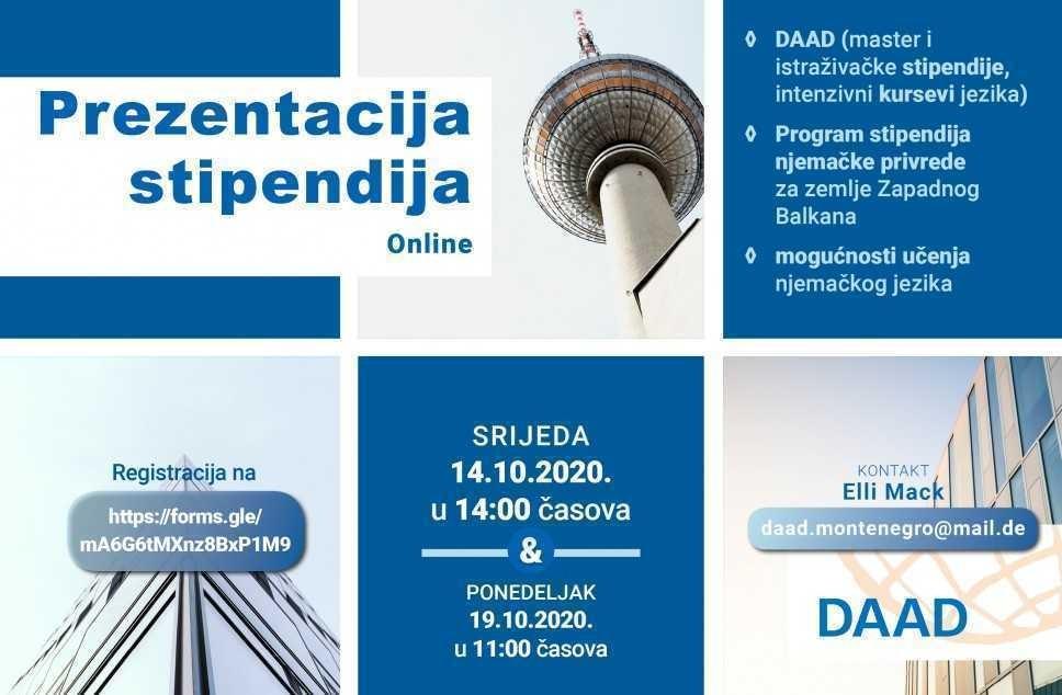 Onlajn promocija njemačkih stipendija DAAD