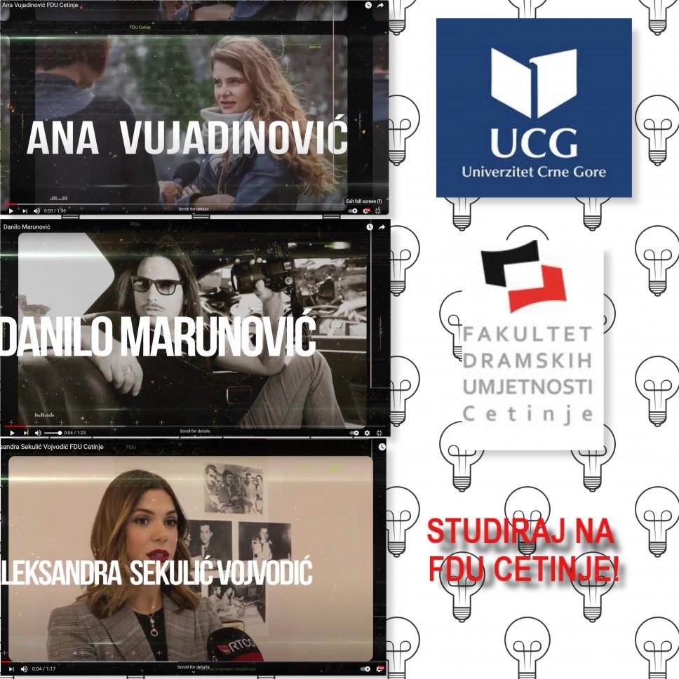 Novi alumnisti kampanje: STUDIRAJ NA FDU - CETINJE!