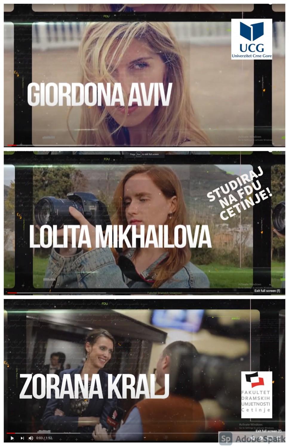 Novi alumnisti kampanje: STUDIRAJ NA FDU CETINJE!