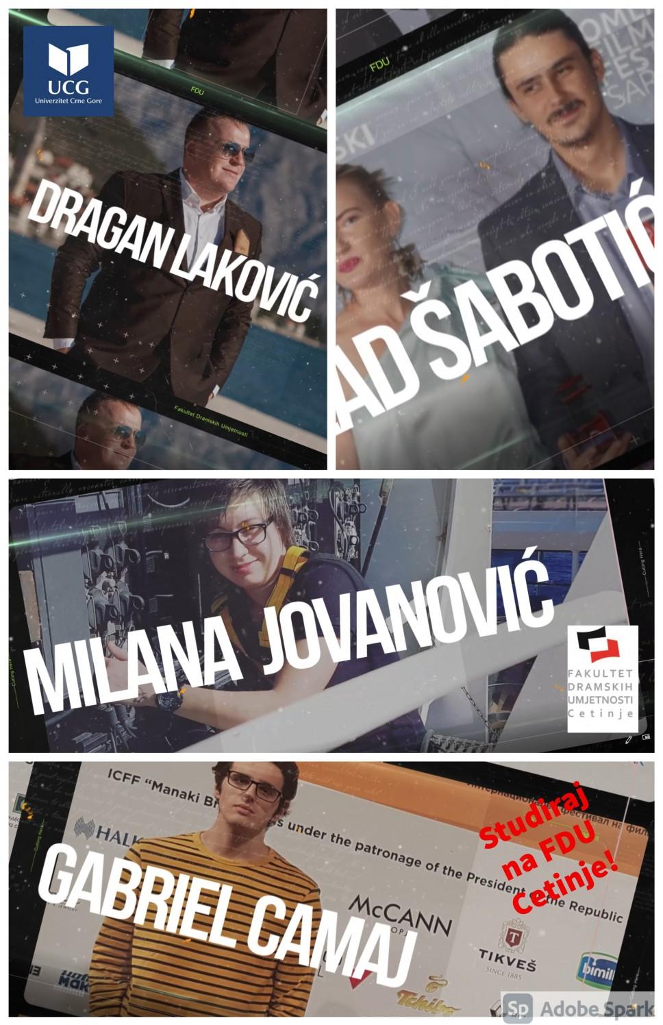 Novi alumnisti kampanje STUDIRAJ NA FDU - CETINJE!