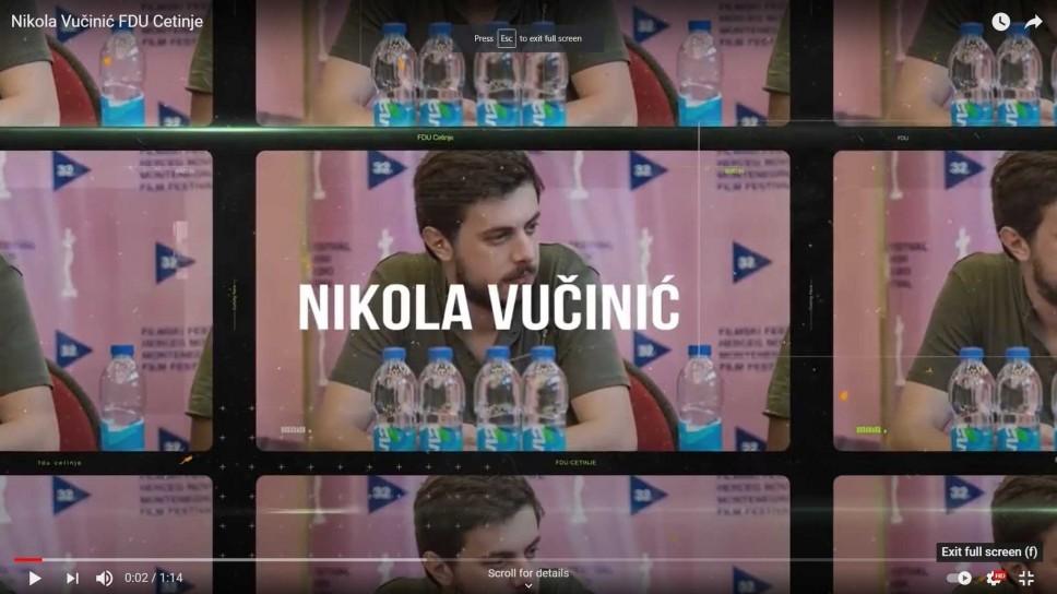 Film  studenta režije Nikole Vučinića nagrađen na Leskovačkom internacionalnom festivalu filmske režije