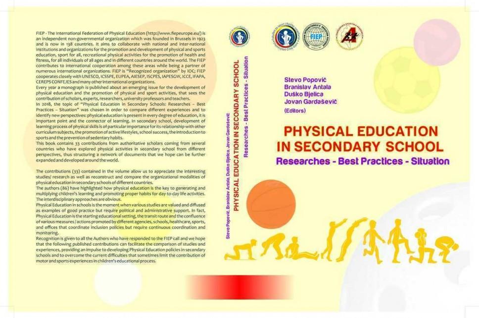 Naučnici UCG i FIEP-a objavili istraživanja o fizičkom vaspitanju u srednjim školama širom Evrope