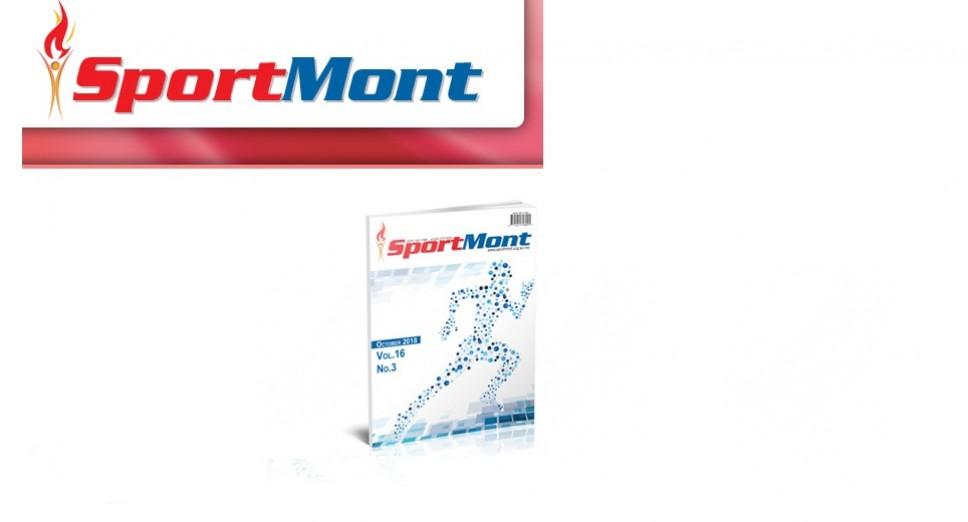 Oktobarsko izdanje naučnog časopisa Sport Mont Journal