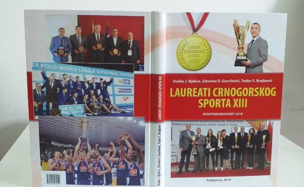 Objavljena knjiga o laureatima crnogorskog sporta za 2018. godinu
