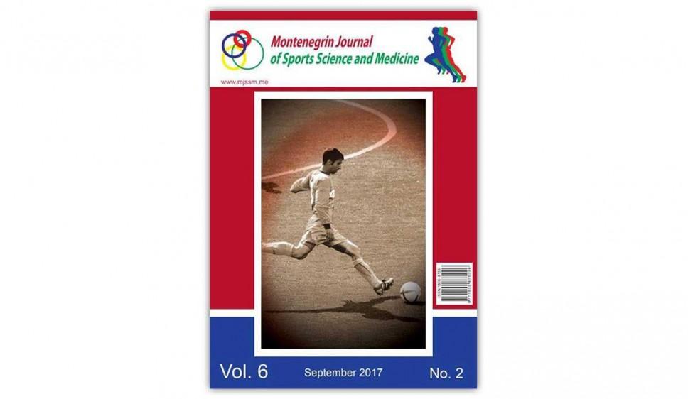 """Izašao je iz štampe septembarski broj međunarodnog naučnog časopisa """"Montenegrin Journal of Sports Science and Medicine"""""""
