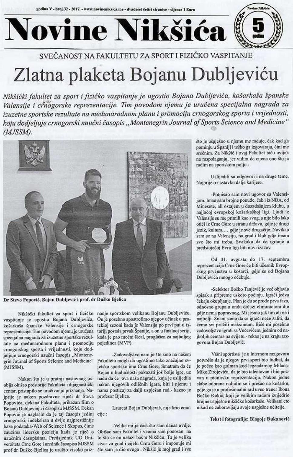 Novine Nikšića, 01.07.2017.