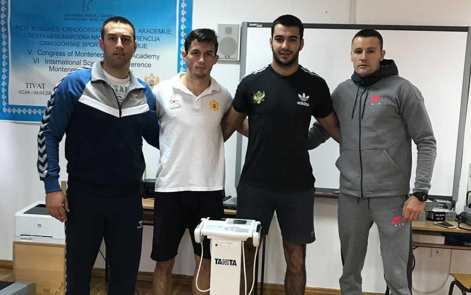 Antropometrijsko mjerenje džudista Danila Pantića i Nikole Gardaševića