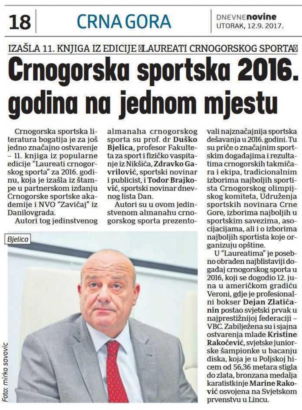 Dnevne novine, 12.09.2017.