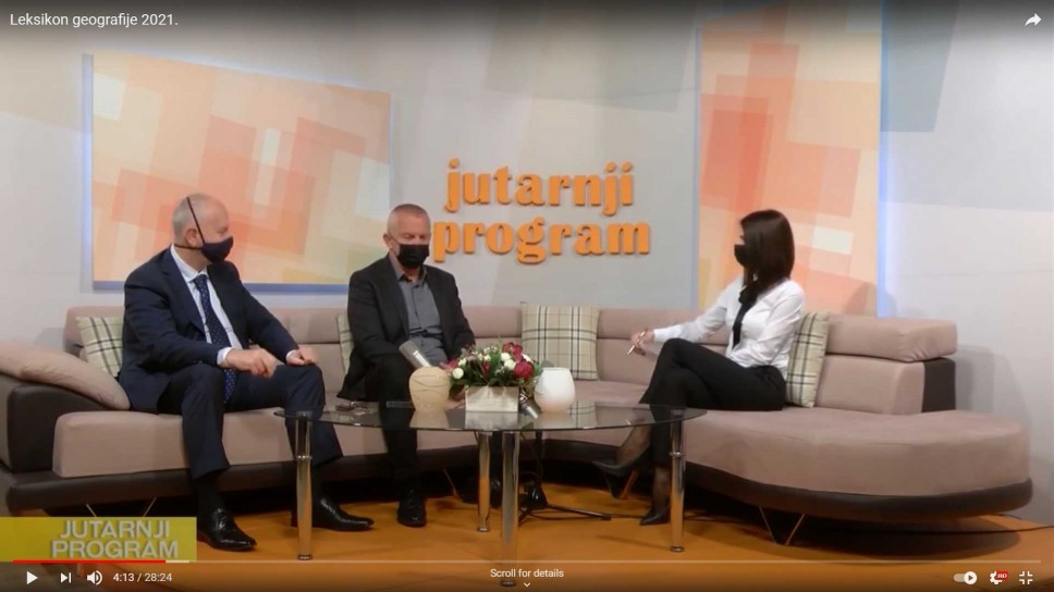 Gostovanje članova redakcije Leksikona geografije Crne Gore na Televiziji Nikšić