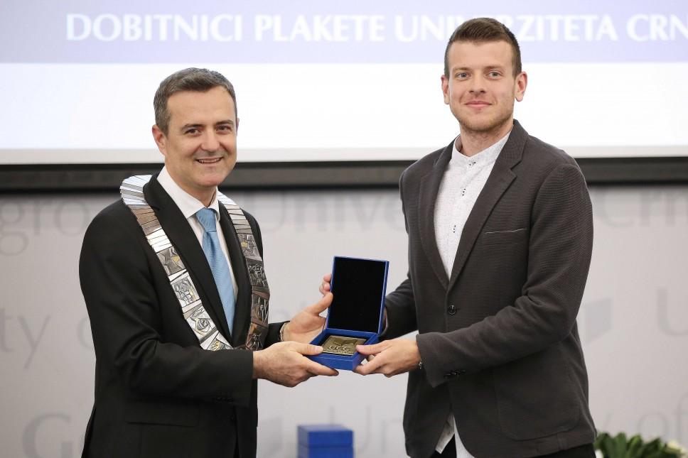 Boban Banjac - dobitnik Plakete Univerziteta Crne Gore iz oblasti medicinskih nauka