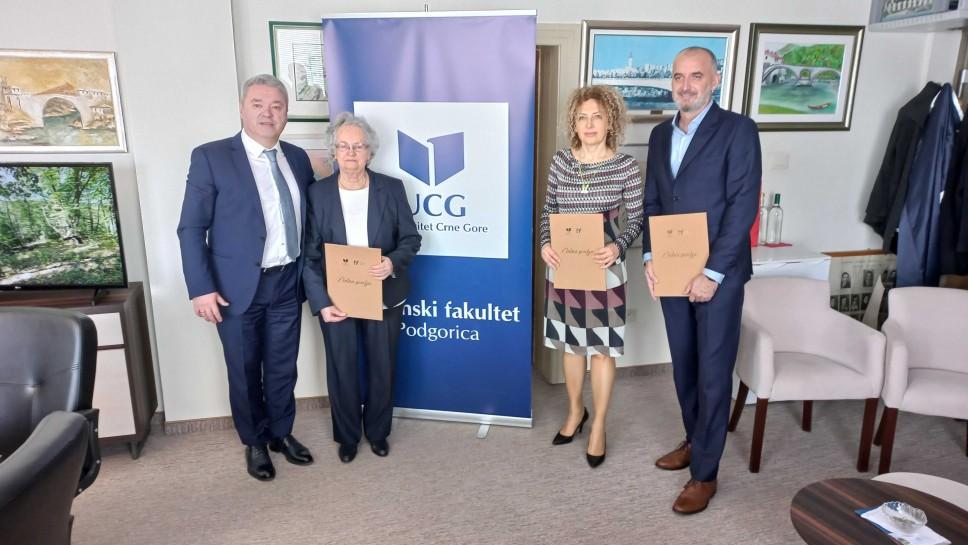 Uručenjem zlatnih povelja Mašinski fakultet UCG obilježio Dan fakulteta