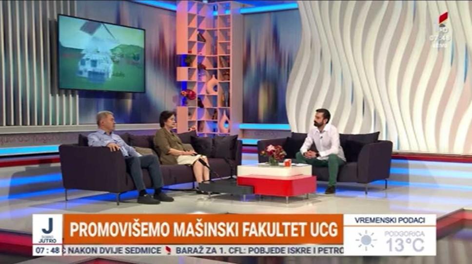 Dekan Vušanović i rukovoditeljka Markuš o prilikama koje budućim studentima pruža Mašinski fakultet Univerziteta Crne Gore
