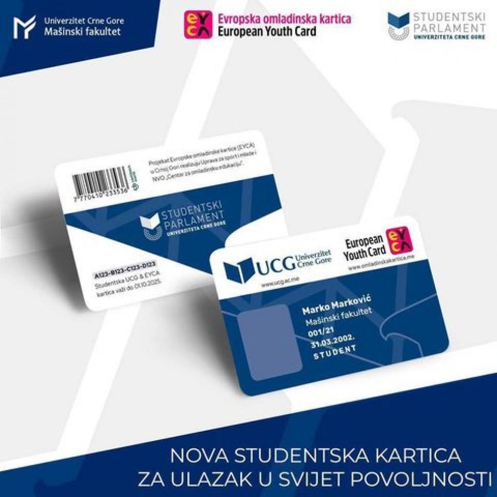 Preuzmete svoju studentsku EYCA karticu