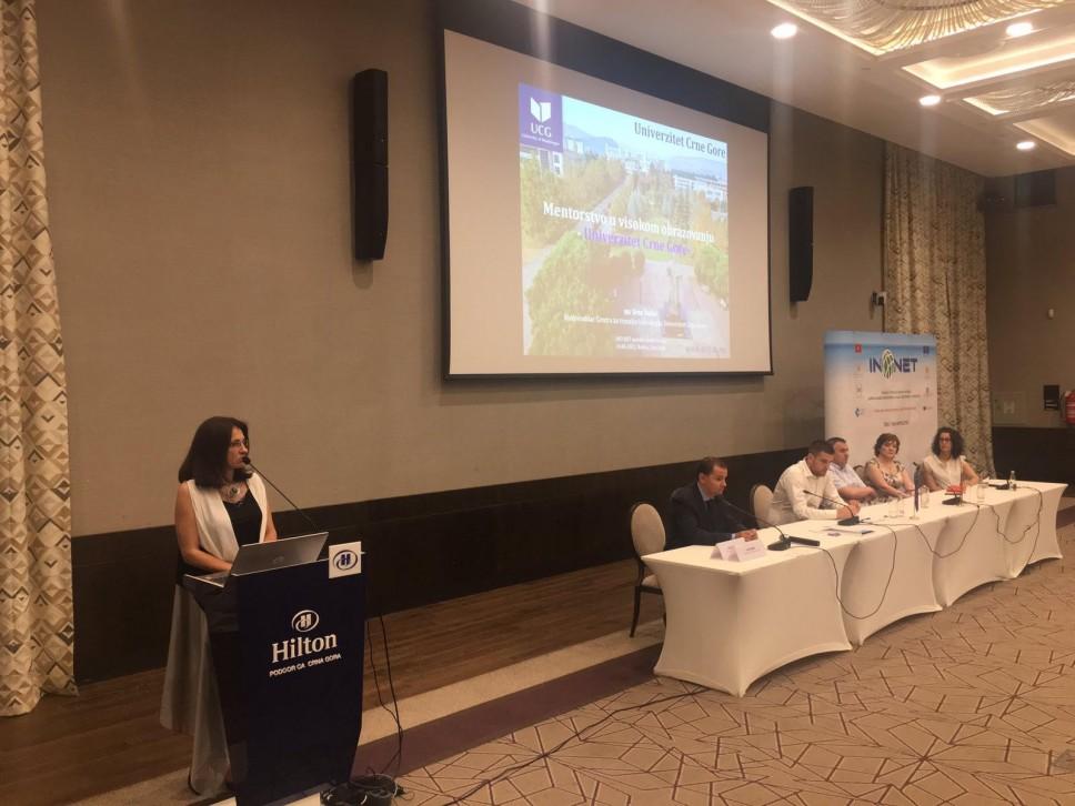 UCG na završnoj konferenciji INO NET projekta - značaj mentorstva za studente