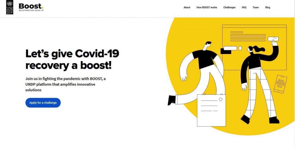 UNDP-BOOST poziv za inovativna rješenja za borbu sa izazovima izazvanim COVID-19 pandemijom