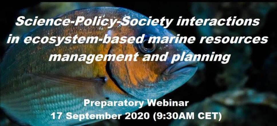 Kratki vebinar otvorenog pristupa: Interakcija nauka-politika-društvo u upravljanju morskim resursima zasnovanim na ekosistemskom pristupu i planiranju