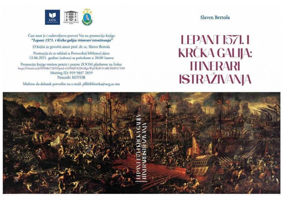 "Promocija knjige ""Lepant 1571. i krčka galija: itinerari istraživanja"" prof. dr. Sc. Slavena Bertoša"